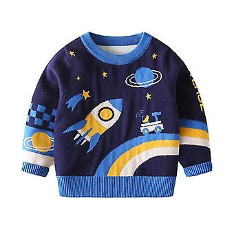 Winter Kids Knit Sweaters, Toddler Cartoon Fashion Clothing Fall