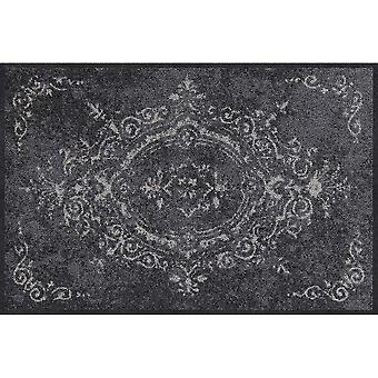 Salonloewe Amira grå dörrmatta tvättbar 050 x 075 cm