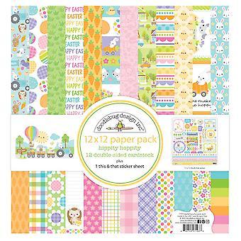 Doodlebug Design Hippity Hoppity 12 x 12 Zoll Papier Pack
