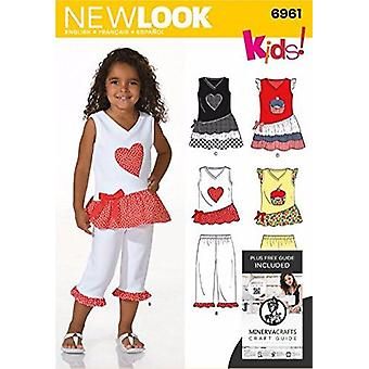 New Look Sewing Pattern 6961 - Child Separates Sizes: A (3-4-5-6-7-8)