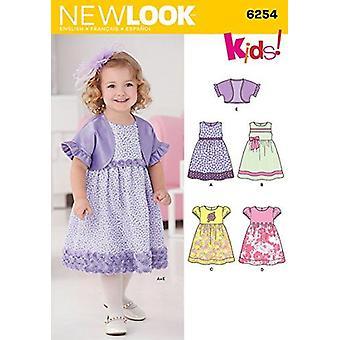 New Look Ompelu kuvio 6254 Taaperot Mekko ja Bolero Koko A (1/2-1-2-3-4)