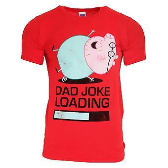 Peppa Pig officielle voksne Unisex Daddy gris Joke lastning T-Shirt