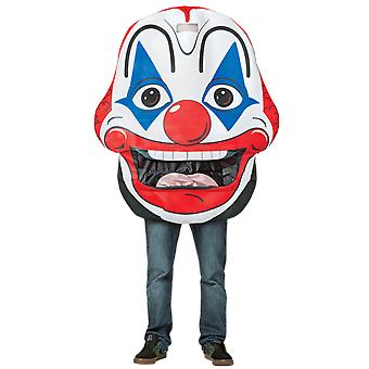 Adult Giant Clown Face Circus Carnival Halloween Fancy Dress Costume