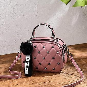 Mini Pu Leather Crossbody Bags, Hairball Bag