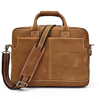 Crazy Horse Genuine Leather Men Briefcase, Shoulder Bag
