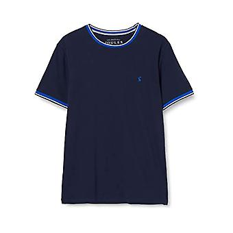 Joules Light Pique Tee T-Shirt, Blue (French Navy Frnavy), Small Man