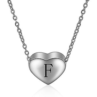 Sterling Silver Initial Necklace Letter F