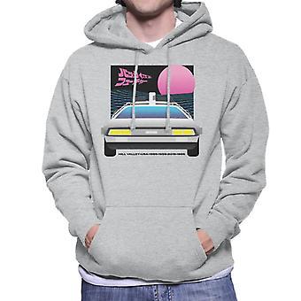 Back to the Future Delorean Sunset Heren Sweatshirt met capuchon