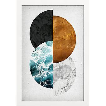 JUNIQE Print - Koppar 02 - Abstrakt & Geometrisk Affisch i Färgglad