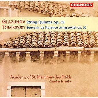 Glazoenov/Tchaikovsky - Glazoenov: Strijkkwintet, Op. 39; Tchaikovsky: Souvenir De Florence, Op. 70 [CD] USA importeren
