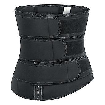 Cintura de 82 a 89cm preto neoprene sauna suor faixa barriga cintura emagrecendo cinto ativo cintura treinador trimmer x7090