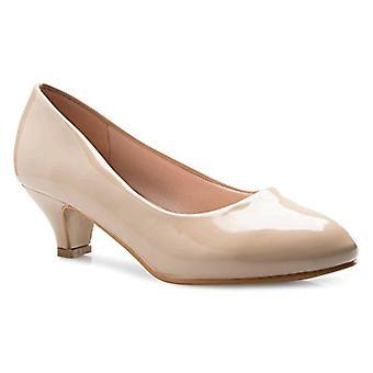 OLIVIA K Womens Classic Closed Toe Kitten Heel Pumps   Dress, Work, Party Low Heeled