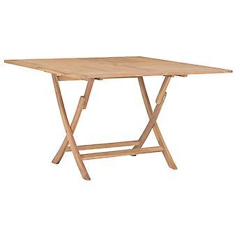 Gartentisch zusammenklappbar 120X120X75 Cm massives Teakholz