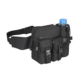 حقيبة سوداء جديدة التكتيكية حقيبة الخصر زجاجة المياه الهاتف الحقيبة للرياضة في الهواء الطلق sm16534