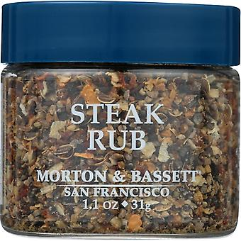Morton & Bassett Seasoning Steak Rub, Case of 3 X 1.1 Oz