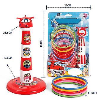 Set combinato Carnevale gioco ring toss con sacchi di fagioli lancio di coni di plastica (rosso)