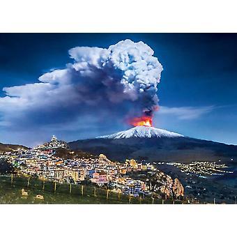 Clementoni Mount Etna Legpuzzel van hoge kwaliteit (1000 stukjes)