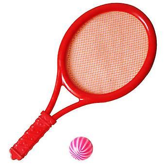 Sulkapallosetti lapsille, pallo ja birdie junior tennis maila pelata peli (punainen)