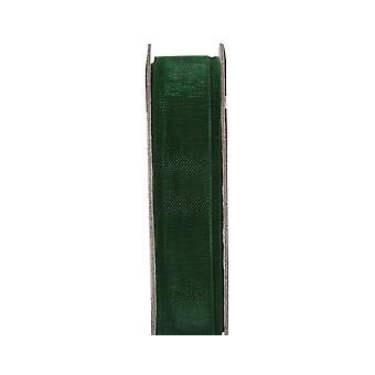 LAST FEW - 3m Evergreen 10mm Wide Organza Craft Ribbon