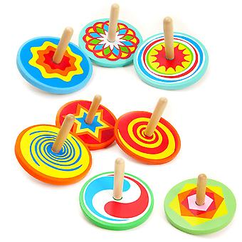 Traditional Wooden Spinning Top Toy - Cracker Filler Gift