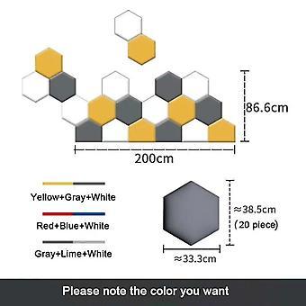 Многоцветный шестиугольный изголовье кровати Мягкий набор сумок - 3D наклейки на стену