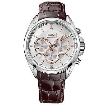 Hugo Boss 1512881 musta nahkahihna valkoinen valinta miesten kello