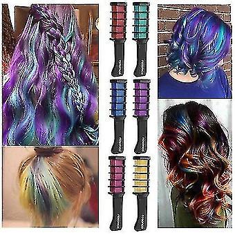 Pente de corante de cabelo descartável cabelo temporário cor de giz corante ferramenta de corante cosplay festa cabelos estilizando tingimento