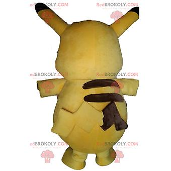 Maskottchen REDBROKOLY.COM von Pikachu, berühmter gelber Cartoon Pokemeon
