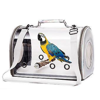 Lintujen kantaja, jossa on seisova ahven kannettava lintumatkahäkki hengittävä papukaijan kuljetuslaukku, mene ulos reppu pienille eläimille
