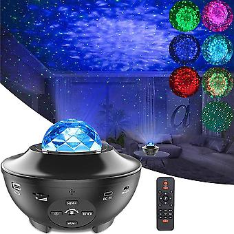 Star Projector Night Light, Ocean Wave LED Starry Night Light Projector with Music Speaker Sound