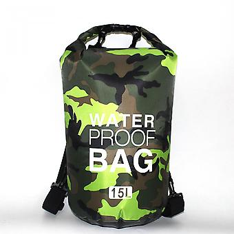 Lightweight 15l Green Dry Bag
