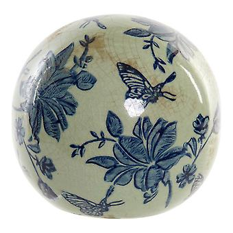 Figura decorativa DKD Home Decor Sphere China vesela Butterfly (12 x 12 x 11 cm)