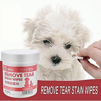 Pet Cat Dog Remove Tear Mark Doekjes - Pet Eye Cleaning Natte Papieren Handdoek
