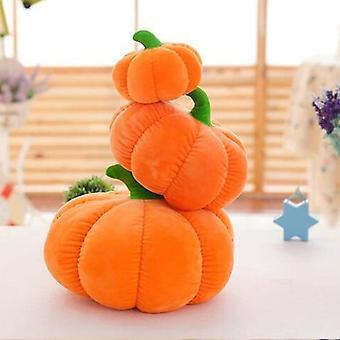 Throw pillows halloween pumpkin pillow plush stuffed toy doll decorative kids orange simulation kawaii fruit bed vegetable cushion textile
