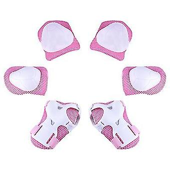 Kinder Schutzausrüstung Set Knieschützer für Kinder 3-14 Jahre Kleinkind Knie (Rosa)