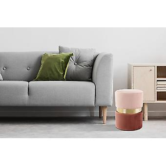 Ottoman - Modern - Pink - Mdf - 35cm x 35cm x 46cm