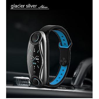 T90 bluetooth 5,0 øretelefon smart ur mænd kvinder siri fitness armbånd sundhed tracker multi-sport