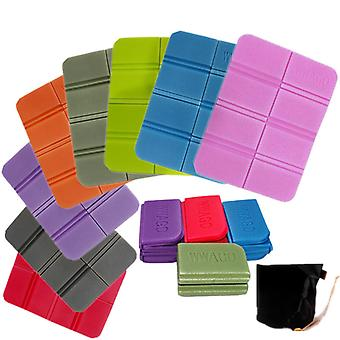 2 Pcs/1 Pc Xpe Folding Moisture-proof Seat Mat With Bag Portable For Camping Picnic Practical Waterproof Seat Cushion Eight Colors