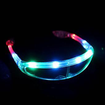 Värikkäät led-lasit valoisat lasit Neon Party Led Light Up Eyeglasses Cosplay Halloween Dj Party