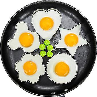 Egg Mold Ring Stainless Steel Egg Pancake Mold 5pcs