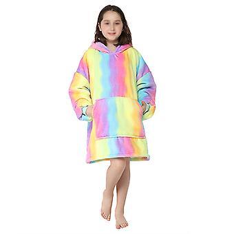 Swotgdoby pentru copii Mid-length Cămașă de noapte cu glugă, Pijama de baie cu mâneci lungi Sleepwear