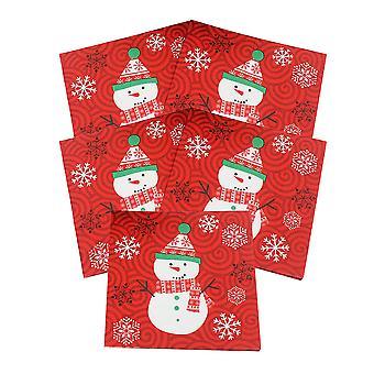 100 vel kerst thema wegwerp papier servet, sepcial design papieren servet voor bruiloft partij home decor