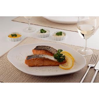 Keramische serveren gerecht plaat voor vis vlees kip presentatie