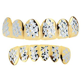 Gold Grillz - one size fits all - Diamond Cut II - SET