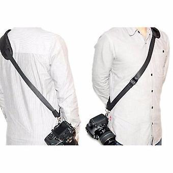 JJC Quick Release Professional Sling schouderband met opslag zak. Past op camera statief aansluiting met ABS plaat. Voor de Fujifilm FinePix HS10 HS11, HS20EXR, HS22EXR, HS25EXR, HS28EXR, HS30EXR, HS33EXR, X 10, X 100, X-E1, X-S1