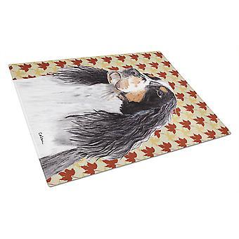 Springerspanielit ry Fall lehdet muotokuva lasinen leikkuulauta suuri