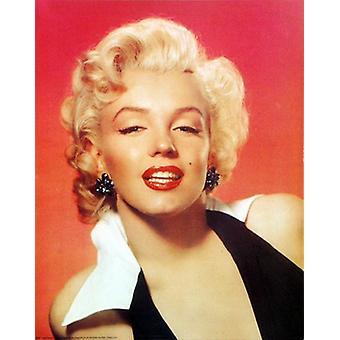 Marilyn Monroe røde portræt plakat Print (16 x 20)