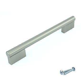 M4TEC Bar Küchenschrank Tür Griffe Schränke Schubladen Schlafzimmer Möbel Ziehgriff Nickel gebürstet. K6-Serie