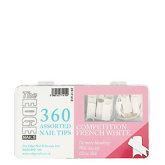 Le bord ongles concurrence Français blanc assortis Nail Tips (360 Pack)