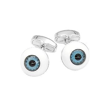 Silber-Ton den Augen der Männer Manschettenknöpfe Design Herren Manschettenknöpfe
